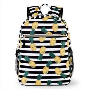 Handbags - Pineapple stripe full sized school backpack nylon